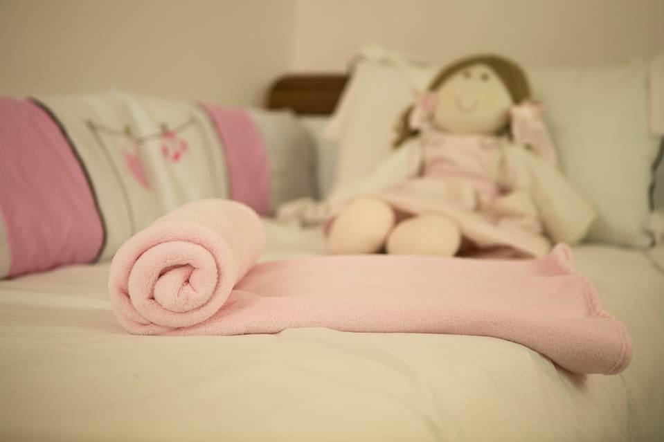 Cobertor Microfibra Bebê Liso Rosa