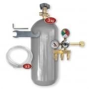 Kit Extração 3 Vias + Cilindro Co2 3Kg Para Chopp Ou Cerveja Artesanal