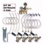 Kit Extração Para Chopp Cerveja Artesanal 4 Vias Completo