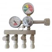 Regulador de Pressão De Co2 Com Engate Rápido 4 Saídas Para Chopp ou Cerveja Artesanal