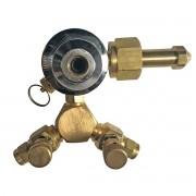 Regulador de Pressão de Co2 Pré Calibrado 2 Vias Para Chopp ou Cerveja Artesanal