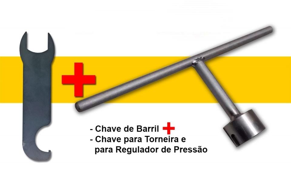 Chave Abrir Barril De Chopp Keg S + Chave Dupla