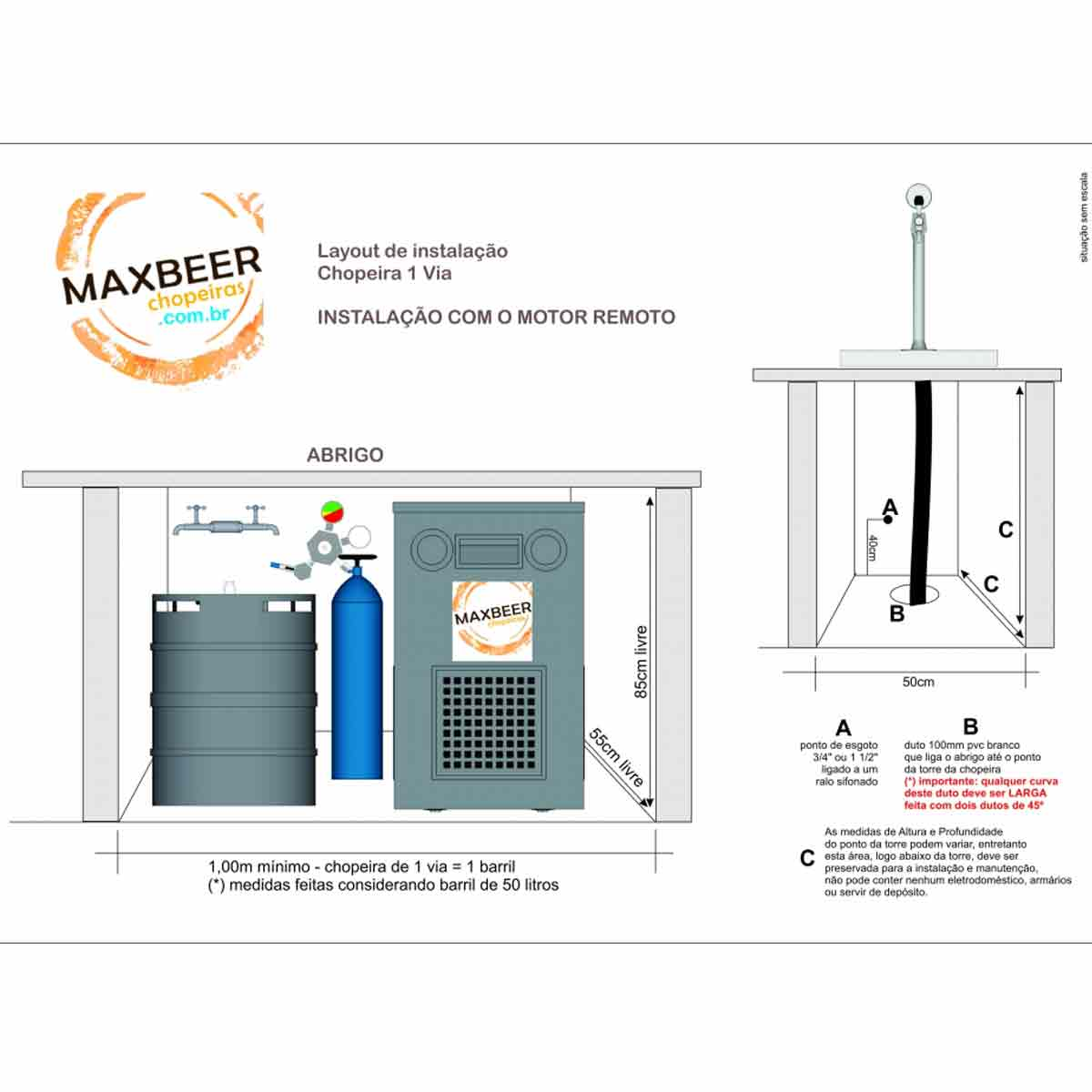 Chopeira Naja 2 Vias Premium - Torre Suada