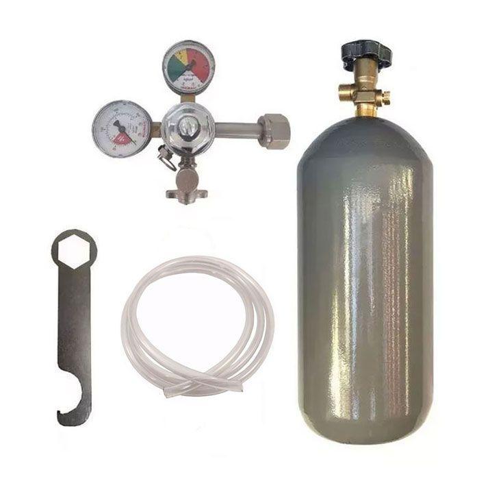 KIT DE EXTRAÇÃO CO2 4KG COM REGULADOR DE 1 VIA PARA CHOPP