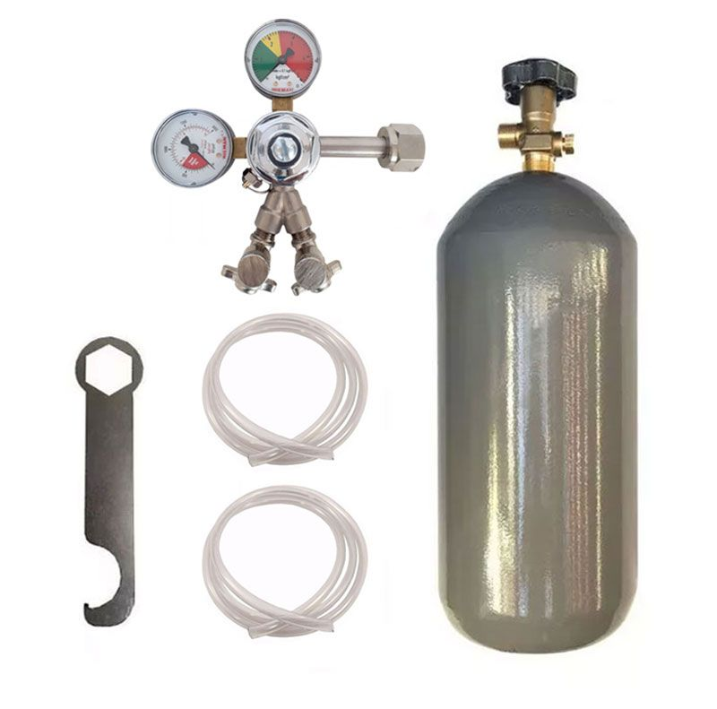 KIT DE EXTRAÇÃO CO2 6KG COM REGULADOR DE 2 VIAS PARA CHOPP