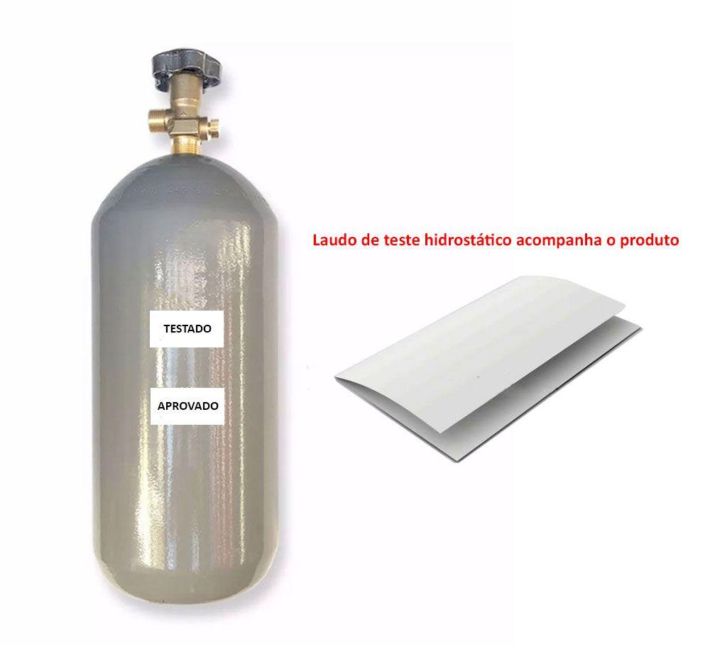 KIT DE EXTRAÇÃO CO2 6KG COM REGULADOR DE 2 VIAS PARA CHOPP COM TORNEIRAS COMPLETO