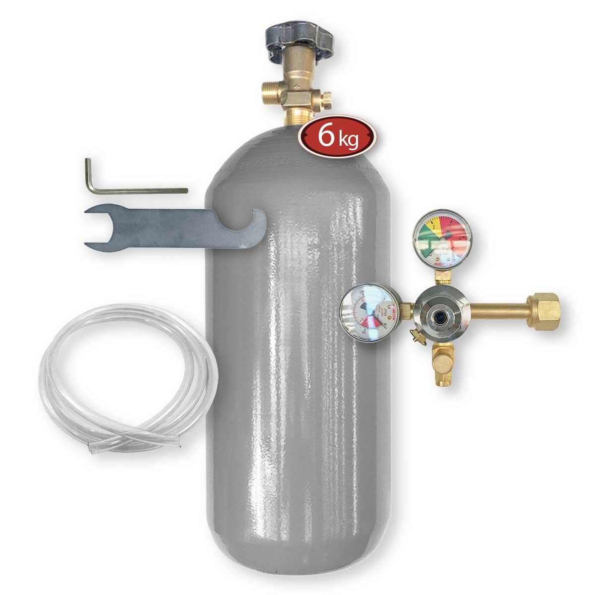 Kit Extração 1 Via + Cilindro Co2 6Kg Para Chopp Ou Cerveja Artesanal