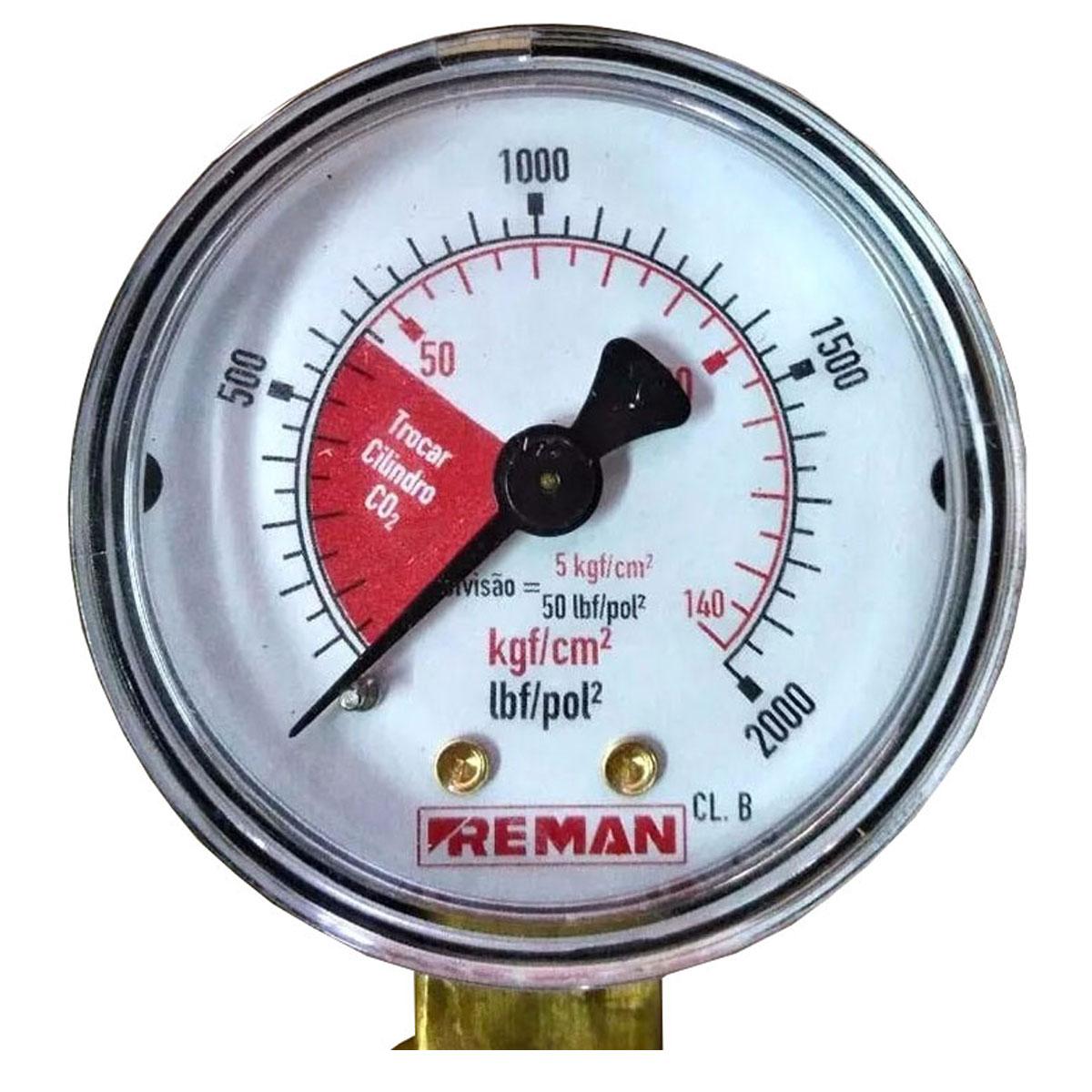 Manômetro Para Medir Carga De Co2 Para Chopp Ou Cerveja Artesanal