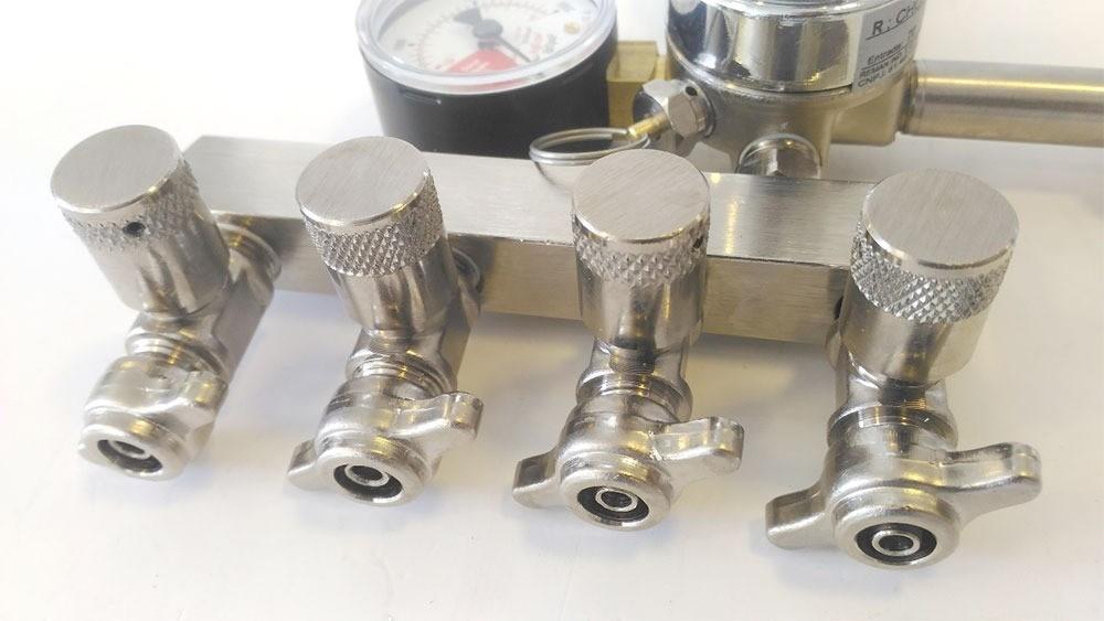 Regulador de Pressão De Co2 4 Saídas Para Chopp ou Cerveja Artesanal