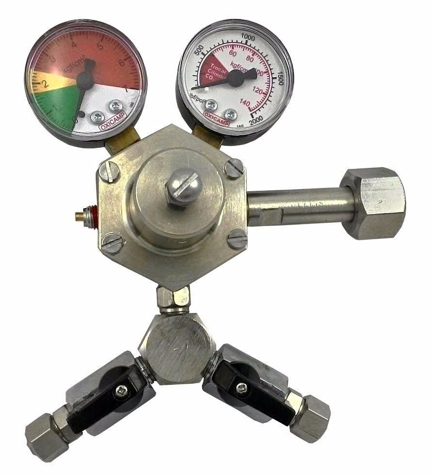 Regulador De Pressão De Co2 Com 2 Saídas Para Chopp ou Cerveja Artesanal