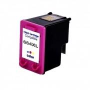 Cartucho de Tinta Compatível HP 664xl Colorido | 12ml - Novo Linha Premium