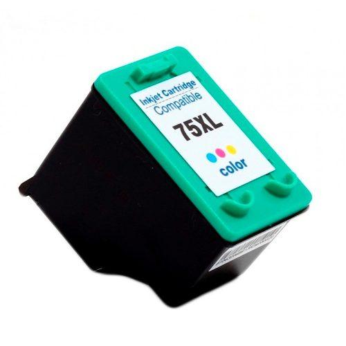 Cartucho de Tinta Compatível HP 75xl Colorido | 14ml - Novo Linha Premium