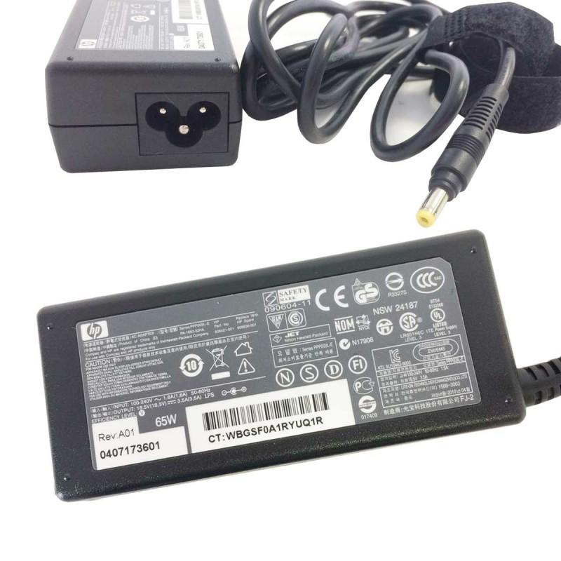 FONTE CARREGADOR ORIGINAL NOTEBOOK HP DV2000 DV6000 Séries 18.5v 3.5a 65w - PA-1650-32HA