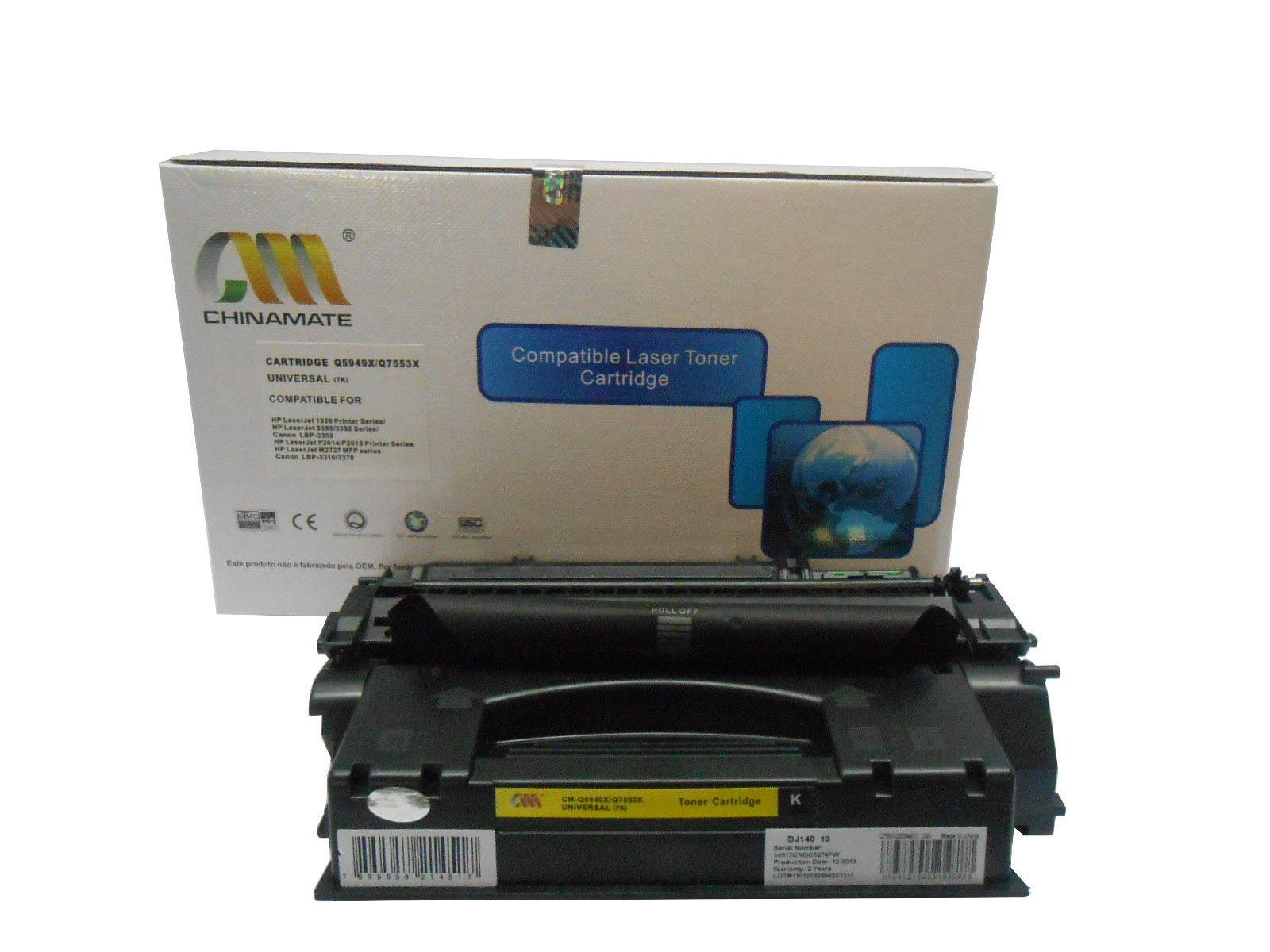 Toner Compatível CHINAMATE HP Q5949X Q5949XB | 1160 1320 1320N 3390 3392 | 7k