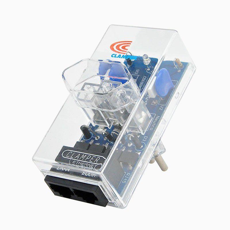 Protetor de Surto DPS CLAMPER Energia + Ethernet