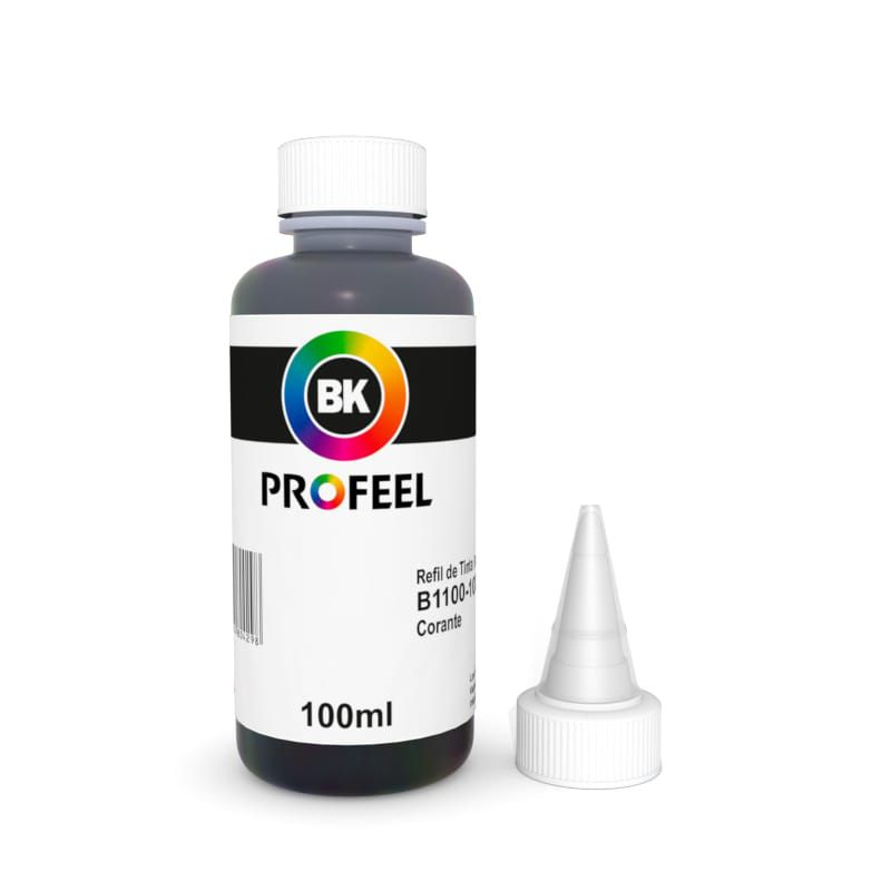 TINTA PARA BROTHER CORANTE 100ML PRETO - INKTEC PROFEEL