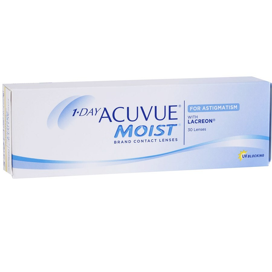 1-DAY ACUVUE MOIST para ASTIGMATISMO com LACREON