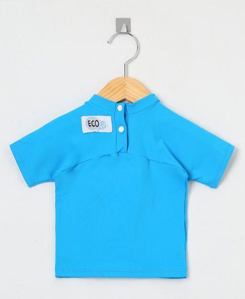Camiseta com proteção solar manga curta Ecotrends - Azul