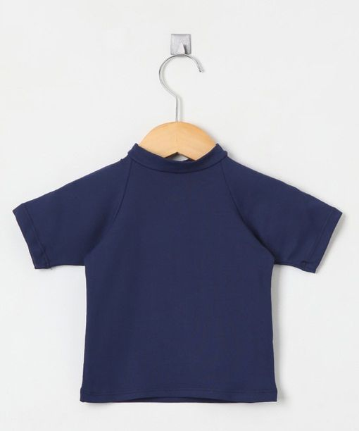 Camiseta com proteção solar manga curta Ecotrends - Azul Marinho