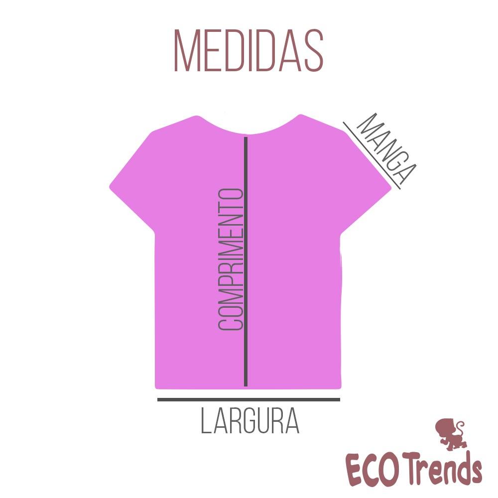 Camiseta com proteção solar manga curta Elefante  - Ecotrends