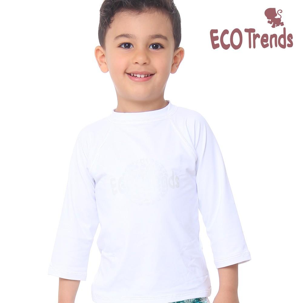 Camiseta com proteção solar manga longa Branca  - Ecotrends