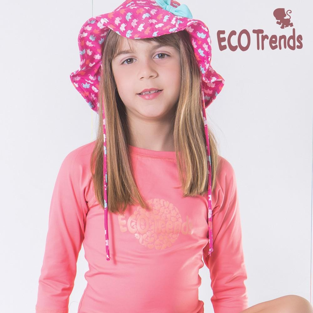 Camiseta com proteção solar manga longa Rosé  - Ecotrends