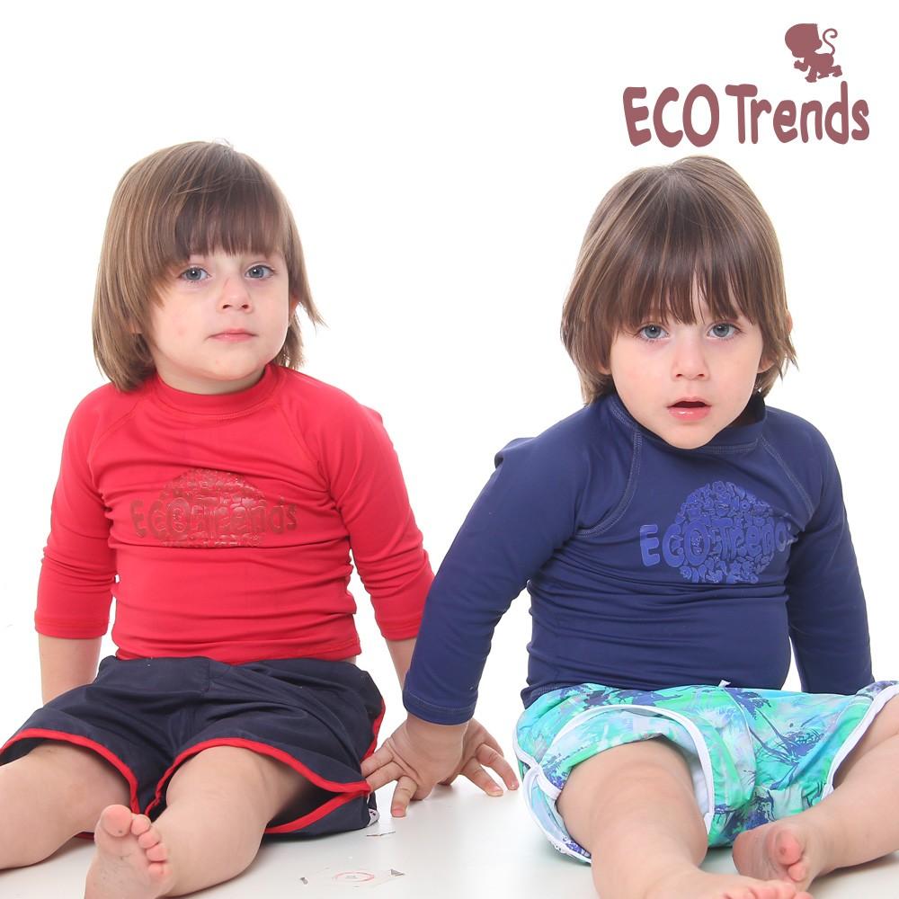 Camiseta com proteção solar manga longa Vermelha  - Ecotrends