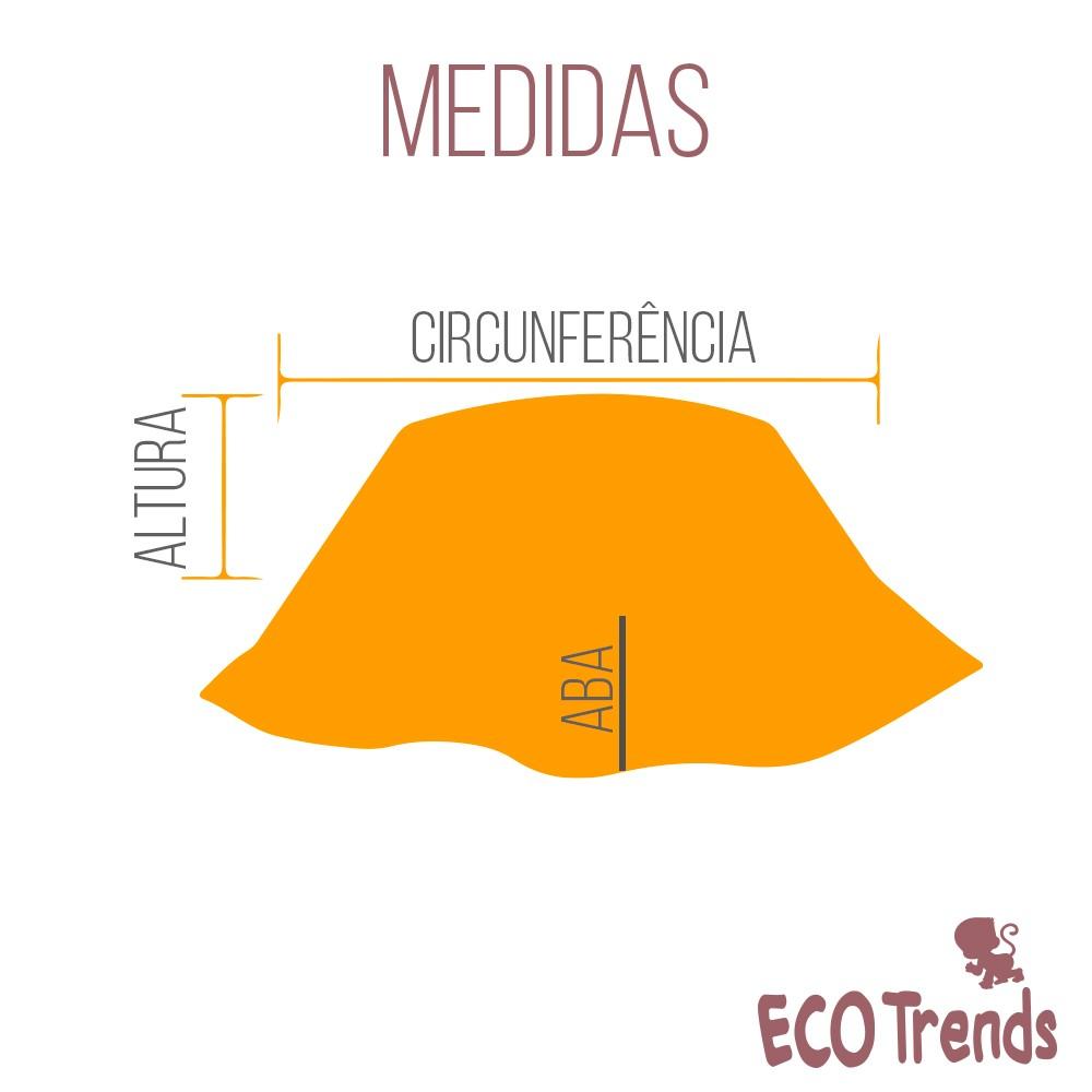 Chapéu com proteção solar Ecotrends - Abacaxi