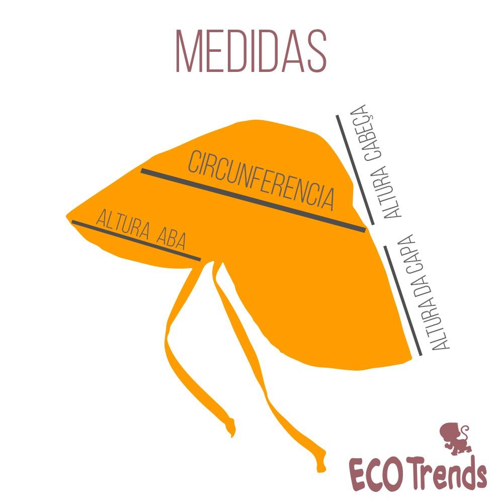 Chapéu com proteção solar Ecotrends - Legendário Vermelho