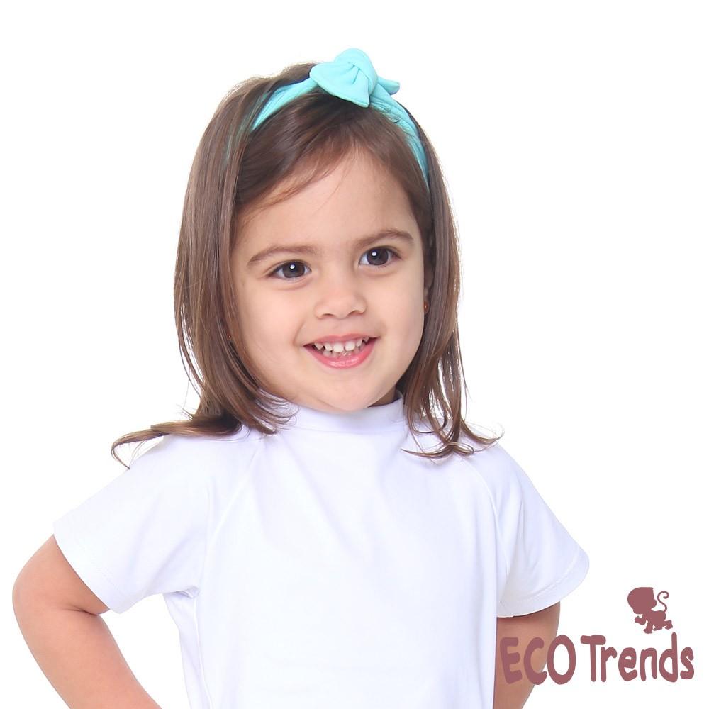 Faixa infantil para cabelo - turquesa  - Ecotrends