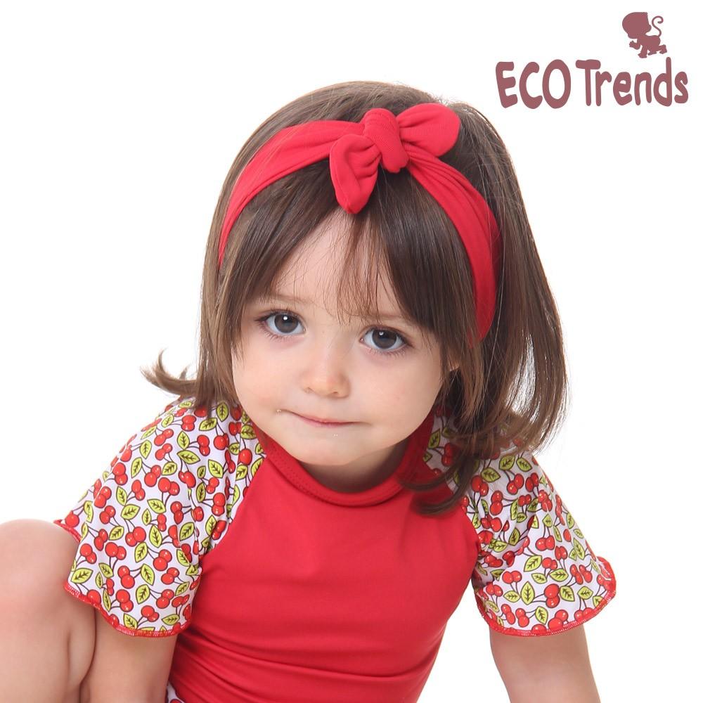 Faixa infantil para cabelo - vermelha  - Ecotrends