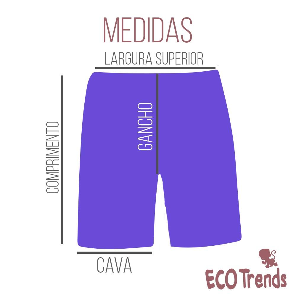 Fralda de piscina bermuda Turquesa  - Ecotrends