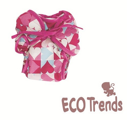 Fralda de piscina fraldinha coração  - Ecotrends