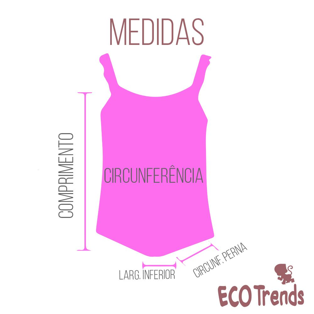Fralda de piscina Maiô Ecotrends - Melância Rosa