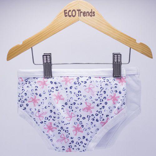 Kit bebê com 2 calcinhas de desfralde/treinamento Ecotrends - Laço