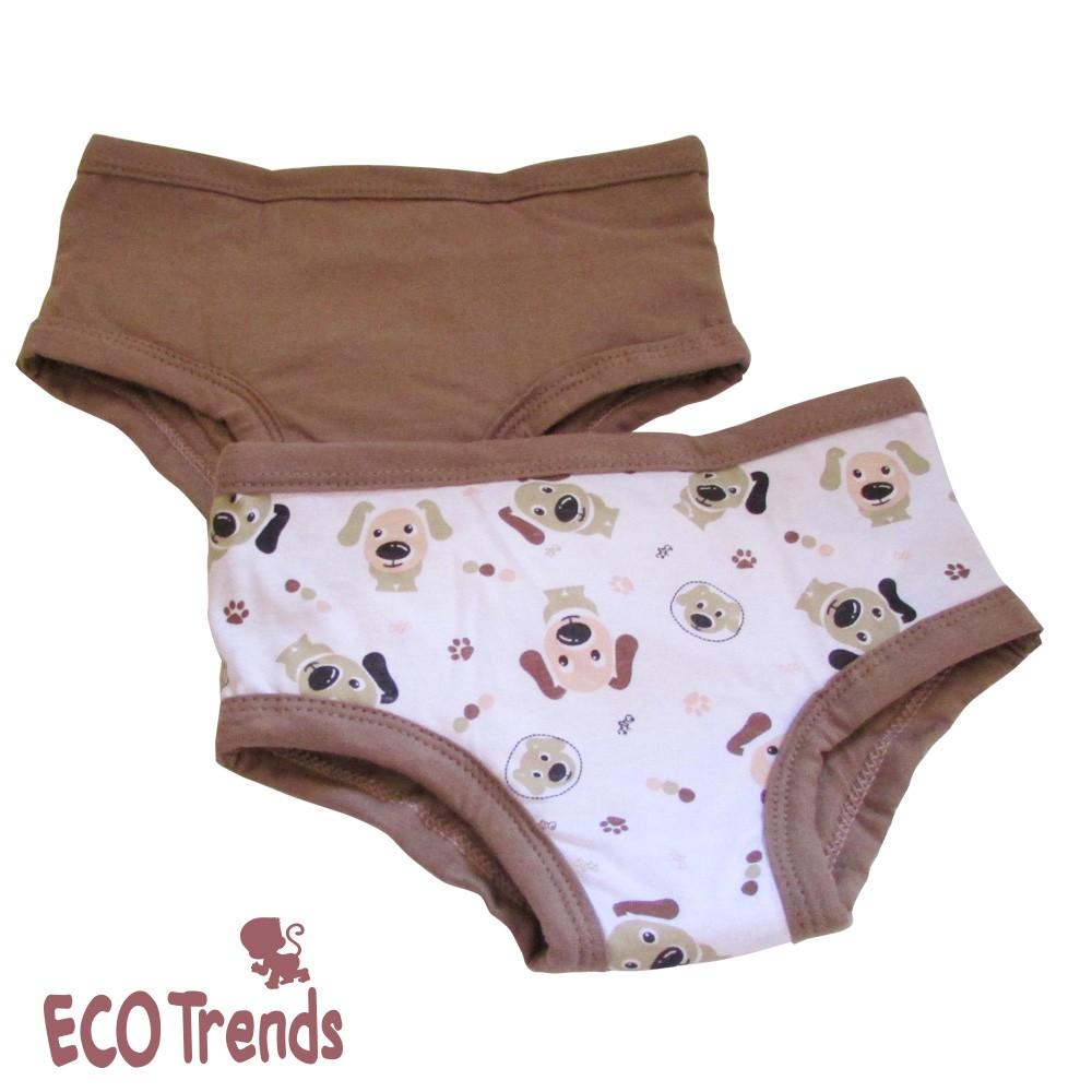 Kit com 2 cuecas de transição/desfralde - Cachorro  - Ecotrends
