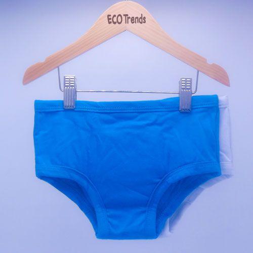 Kit com 2 cuecas de transição/desfralde Ecotrends - Azul e Branca