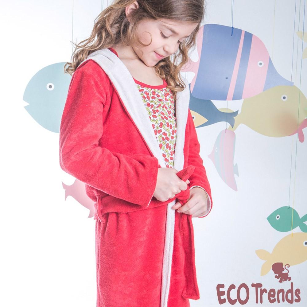 Roupão atoalhado vermelho  - Ecotrends