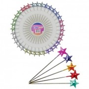 Alfinete colorido em formato de estrela