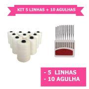 Kit 5 linhas + 10 agulhas