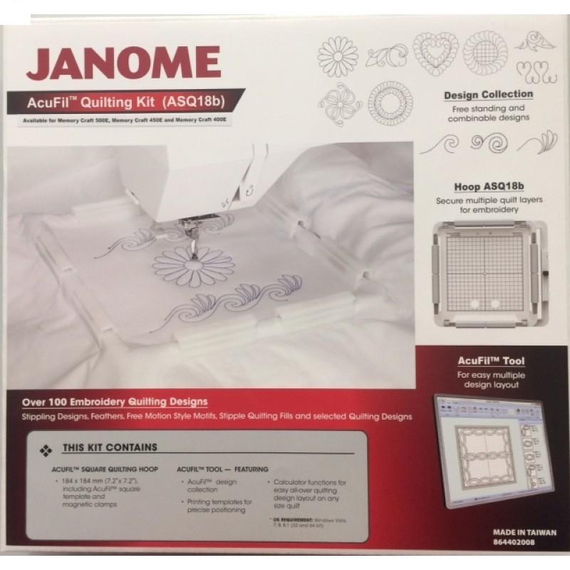 Bastidor Janome MC500E / Elna 830 - 18x18 + Software de Criação