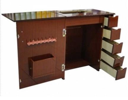 Gabinete Luxo 5 Gavetas para Máquina de Costura Tabaco