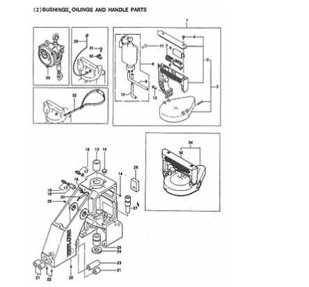 Garfo do Suporte do Dente para Máquina de Sacaria GK26-1A