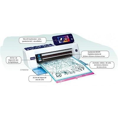 Máquina De Corte Scancut2 Cm650w,Scanner,Wireless,1102 Desenhos,15 Fontes,Bivolt - Brother