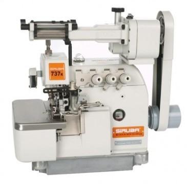 Máquina de Costura Overlock com Zeromax Siruba 737K-504M2-04/LFC-3