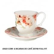 JOGO DE XICARA CAFE CHERRY BLOSSOM 06PCS FUL