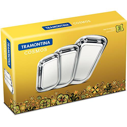 JOGO DE ASSADEIRA ACO INOX 03 PCS TRAMONTINA