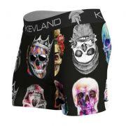 Cueca Boxer Kevland Colored Skulls