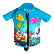 Flutuador Infantil em Lycra Prolife Manga Curta com Proteção Solar  UV UPF 50+