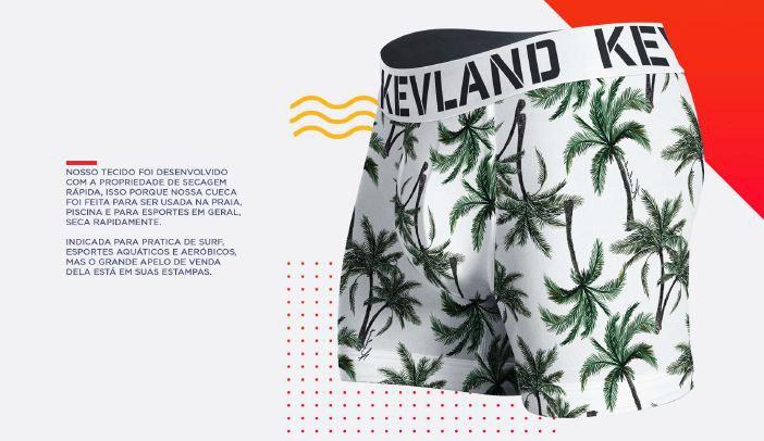 Cueca Boxer Kevland Palm Trees